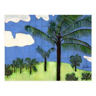 Hawaiian Palm Trees by Julia Hanna Post Cards