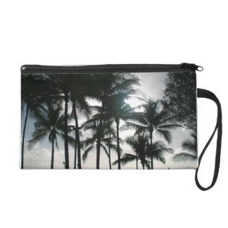 Hawaiian Palm Trees silhouette clutch purse Wristlet
