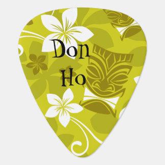 Hawaiian Patterned Tiki Guitar Pick
