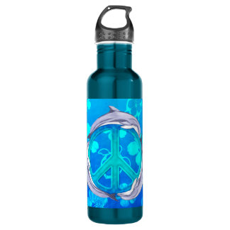 Hawaiian Peace Dolphins 710 Ml Water Bottle