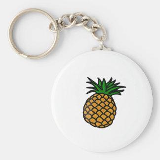 Hawaiian Pineapple Basic Round Button Key Ring