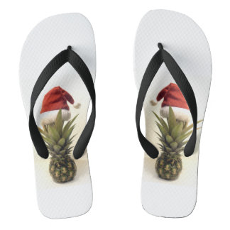 Hawaiian Pineapple Christmas Flip Flops