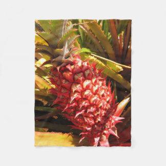 Hawaiian Pineapple Fleece Blanket