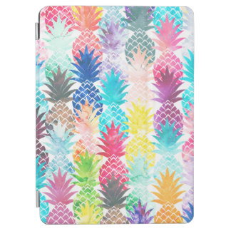 Hawaiian Pineapple Pattern Tropical Watercolor iPad Air Cover