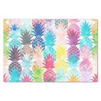 Hawaiian Pineapple Pattern Tropical Watercolor Tissue Paper