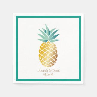 Hawaiian Pineapple Tropical Summer Wedding Disposable Napkin