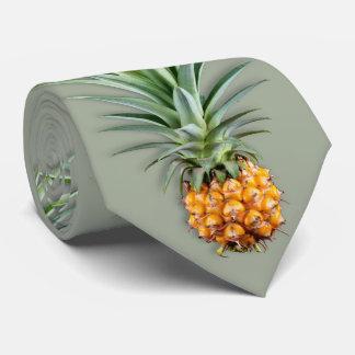 Hawaiian Pineapples Sage Green Tie