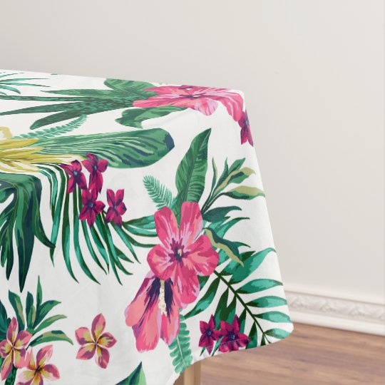 Hawaiian Pink And Yellow Flowers Tablecloth