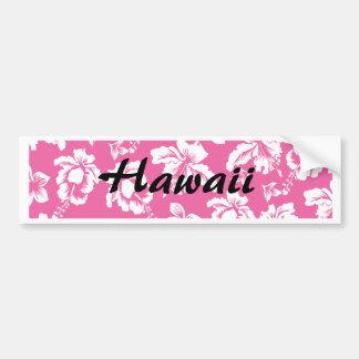 Hawaiian Pink Flower Bumper Sticker