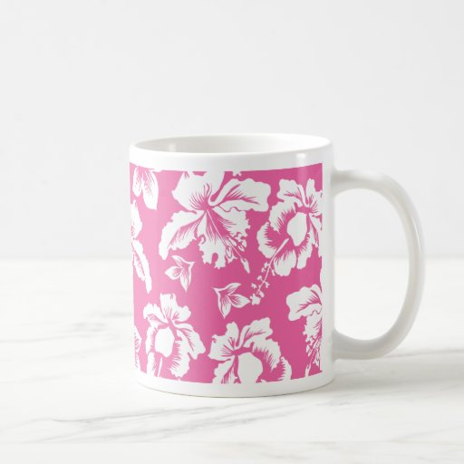 Hawaiian Pink Flower Classic White Coffee Mug