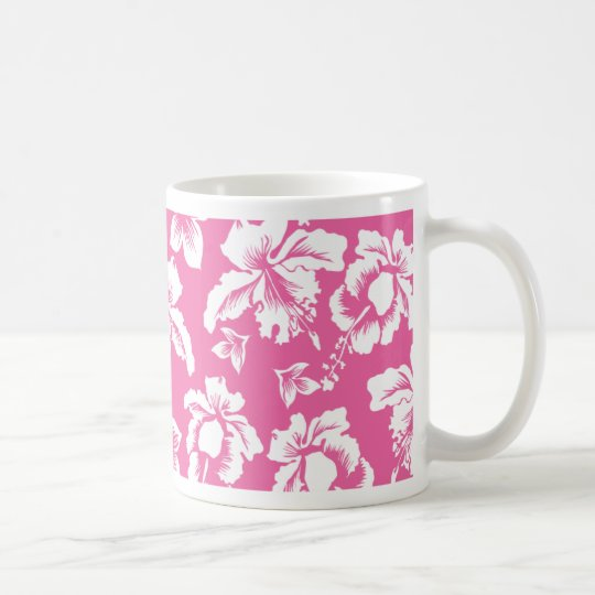 Hawaiian Pink Flower Coffee Mug