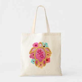 Hawaiian Pink Honu Tote Bag