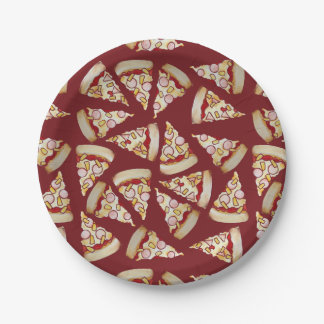 Hawaiian Pizza Lover 7 Inch Paper Plate