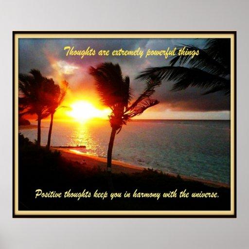Hawaiian Positive thoughts Poster