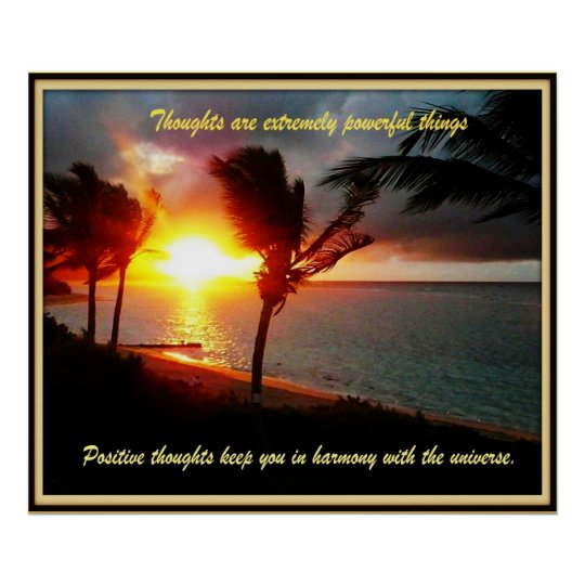 Hawaiian Positive thoughts Poster