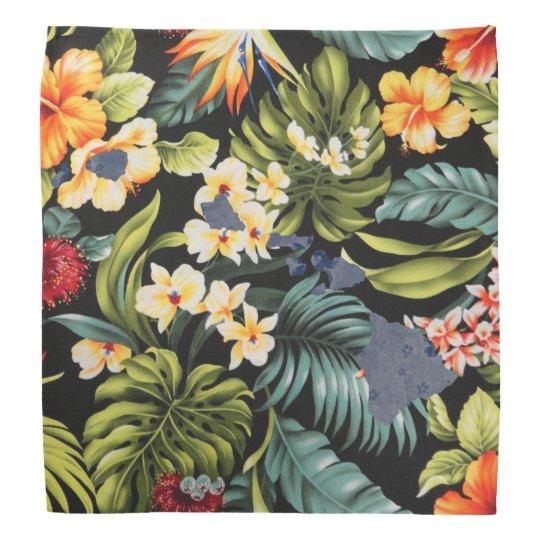Hawaiian Print & Floral Hawai State Bandanna