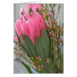 Hawaiian Protea Flowers Greeting Card