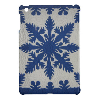 Hawaiian Quilt Blue Cover For The iPad Mini