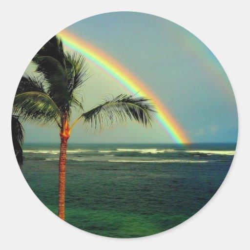 Hawaiian Rainbow Collection - Customized Round Stickers
