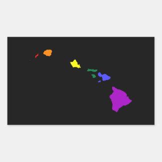 Hawaiian Rainbow Rectangular Sticker
