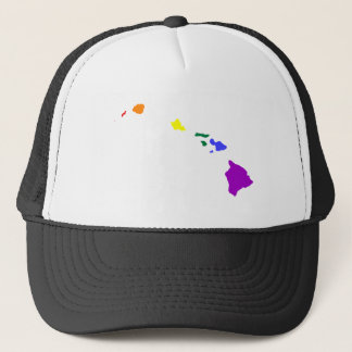 Hawaiian Rainbow Trucker Hat