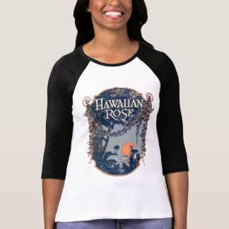 Hawaiian Rose Ladies 3/4 Sleeve Raglan T Shirts