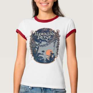 Hawaiian Rose Ladies Ringer T-Shirt