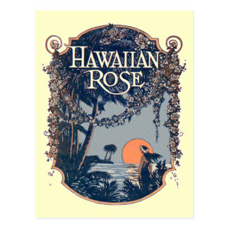 Hawaiian Rose Postcard