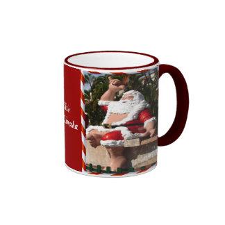 Hawaiian santa mug