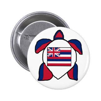 Hawaiian sea turtle flag button