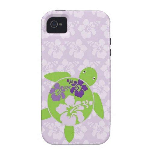 Hawaiian Sea Turtle Lavender Vibe iPhone 4 Covers