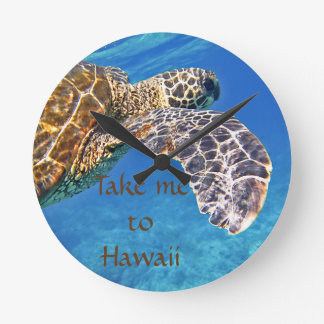 Hawaiian Sea turtle swimming Clocks