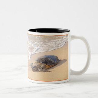 Hawaiian Sea Turtle Two-Tone Coffee Mug
