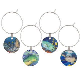 Hawaiian Sealife Wine Charm