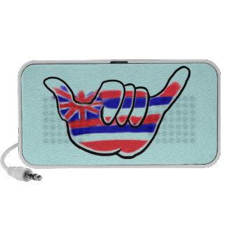 Hawaiian shaka state flag symbol music speaker