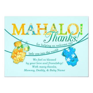 Hawaiian Shirt Onsie Luau Mahalo Thank You Card