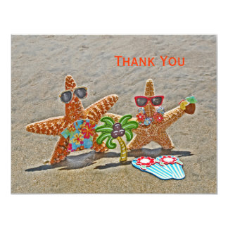 Hawaiian Starfish Couple Thank You Card 11 Cm X 14 Cm Invitation Card