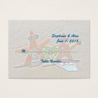 Hawaiian Starfish Couple Wedding Place Cards