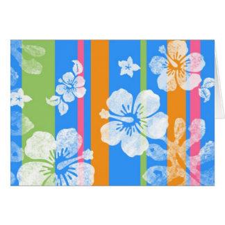 Hawaiian Stripes Card, Blank Inside Card