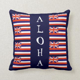 Hawaiian Style Aloha State Flag Throw Pillow