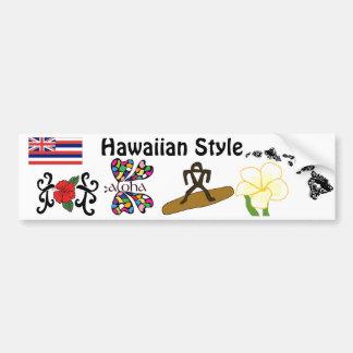 Hawaiian Style bumper sticker