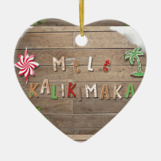 Hawaiian Style Gingerbread Greeting Christmas Ornament