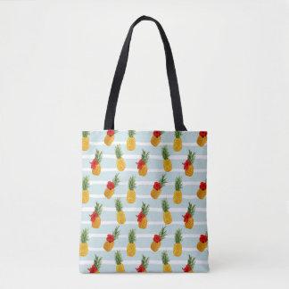 Hawaiian Summer Pineapple Seamless Pattern Tote Bag