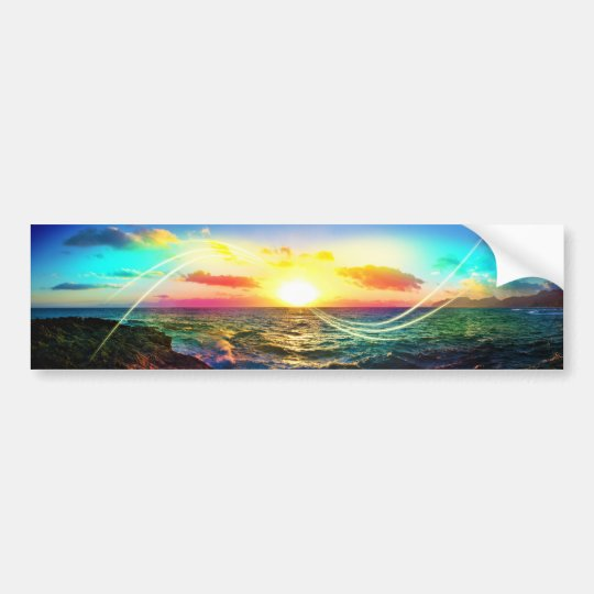Hawaiian Sunrise Bumper Sticker