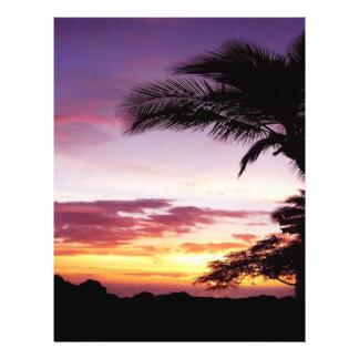 Hawaiian Sunset 21.5 Cm X 28 Cm Flyer