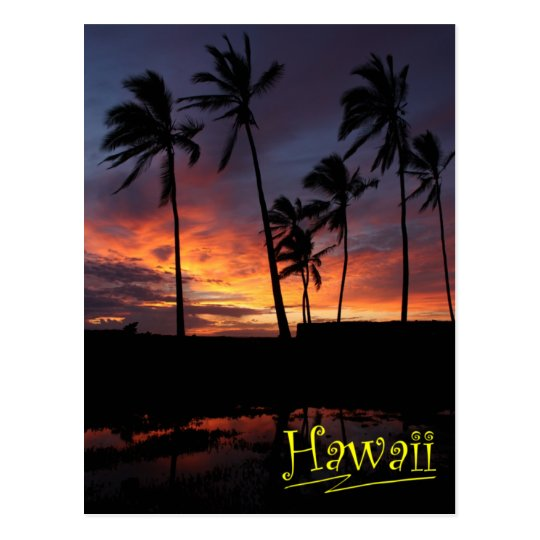 Hawaiian Sunset at Place of Refuge Postcard
