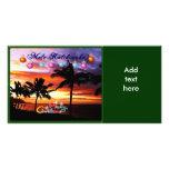 Hawaiian Sunset Christmas Photo Card