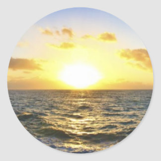 Hawaiian Sunset Classic Round Sticker