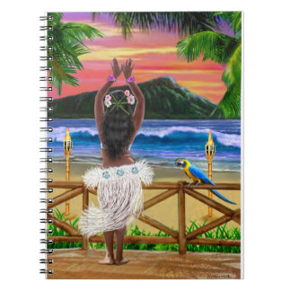 HAWAIIAN SUNSET HULA NOTEBOOKS