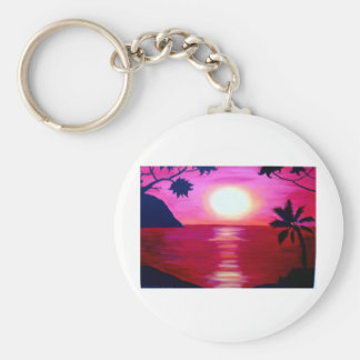hawaiian sunset key ring
